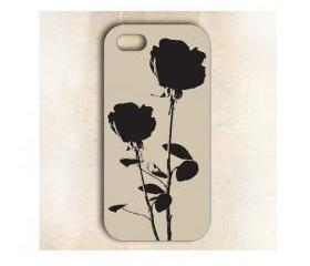 Artist Black Rose Floral Case for iphone 5